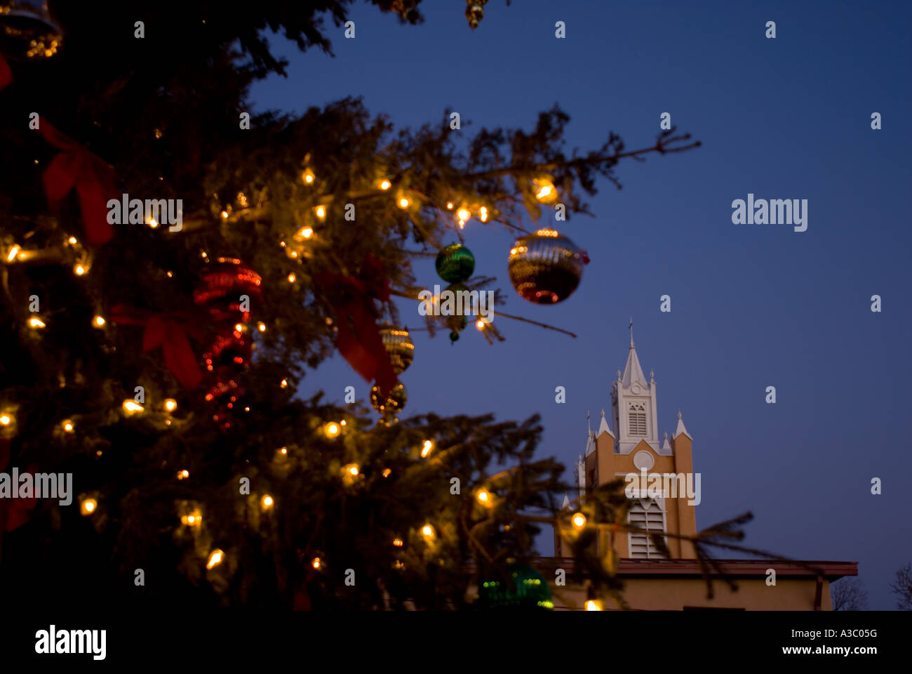 christmas eve arrive in albuquerque new mexico s old town stock