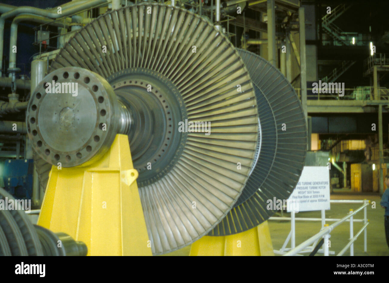 Steam Turbine Fan Blades Of A Parsons Turbine Generator