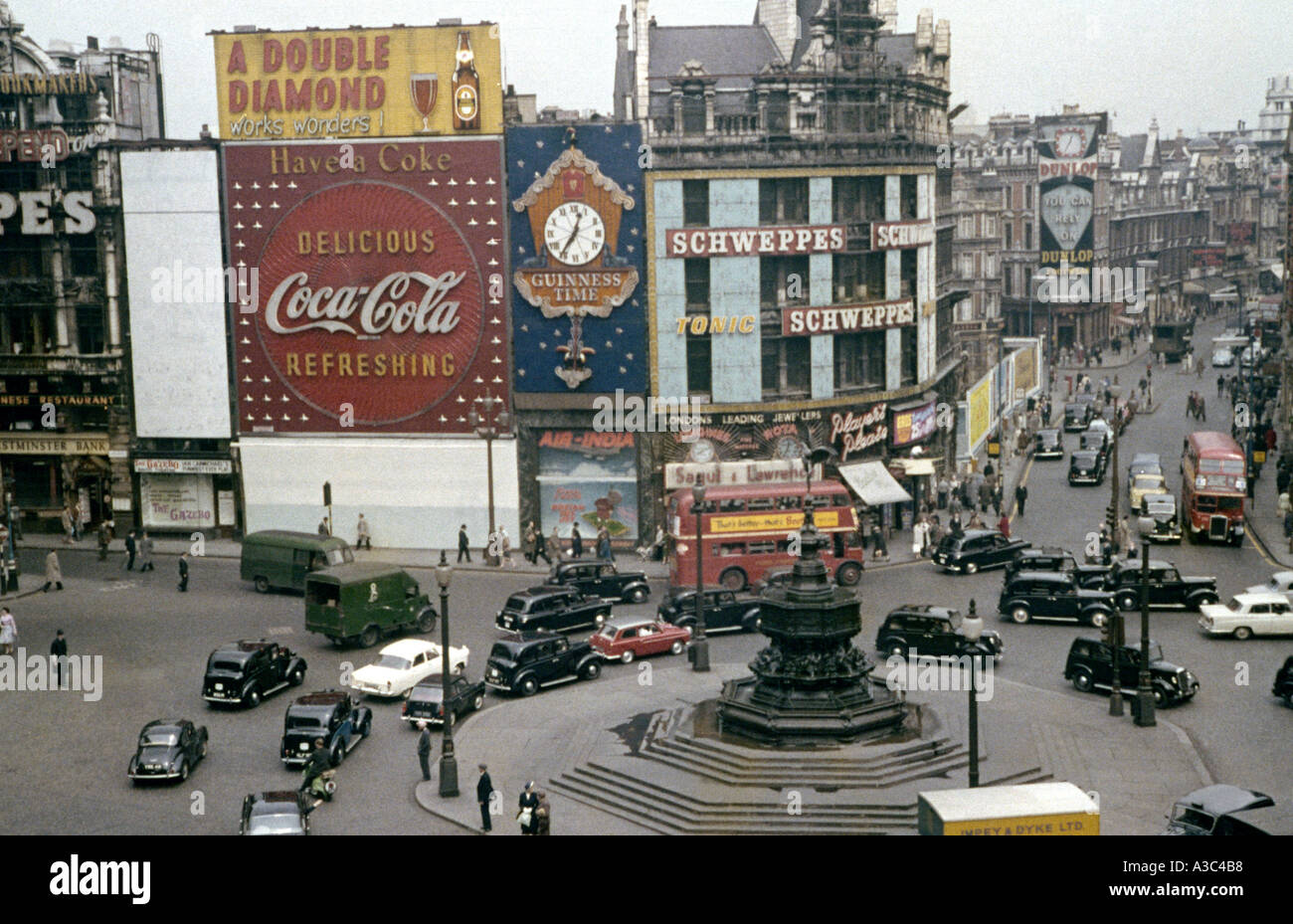 Piccadilly Circus London in the late 1950s early 1960s - Stock Image