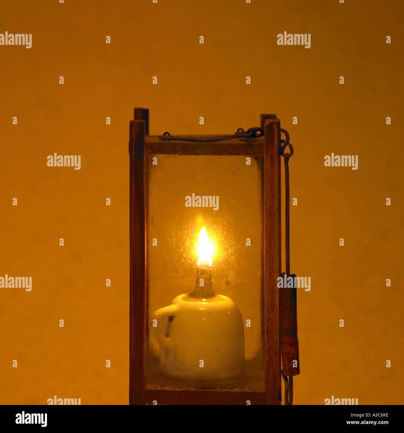 base of a kerosene lamp,antique,lifestyle object,f - Stock Image