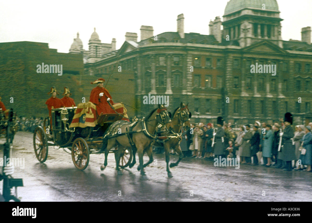 Unknown Procession in London late 1950 early 1960s - Stock Image
