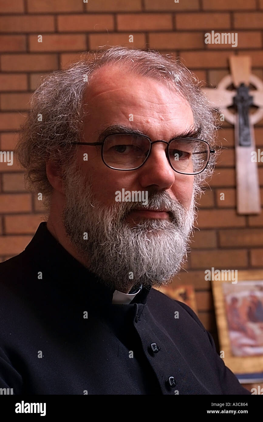 Most Rev Dr Rowan Williams Archbishop of Canterbury from 2003 - Stock Image