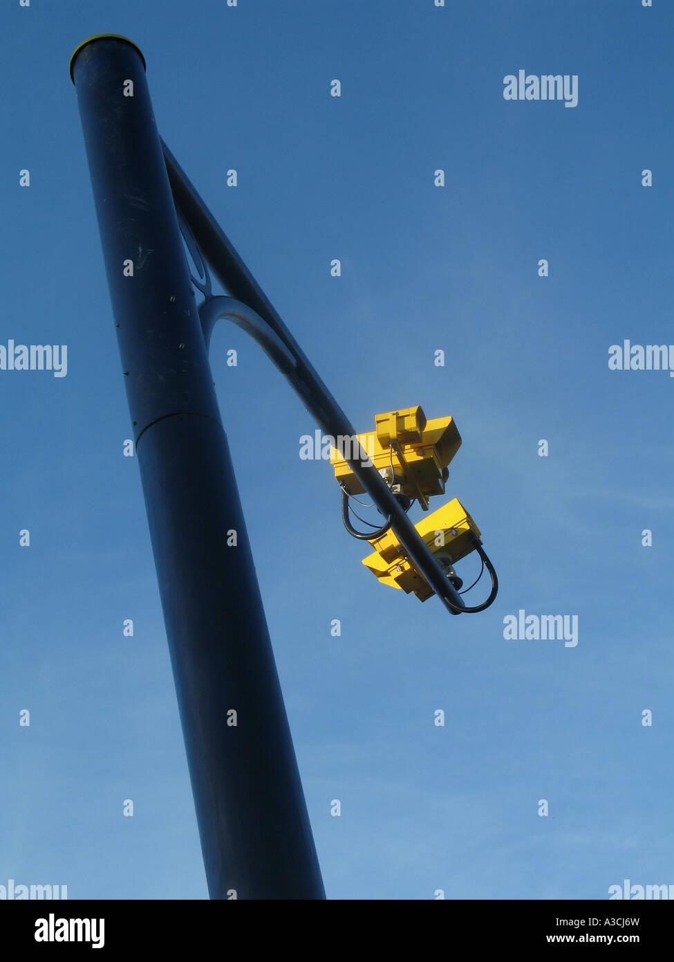 Speed camera gantry Cornwall UK Stock Photo