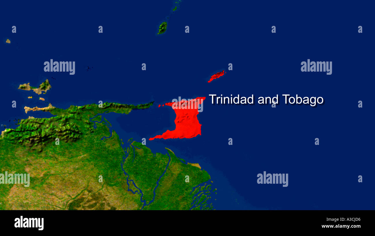 Picture of: Trinidad And Tobago Map High Resolution Stock Photography And Images Alamy