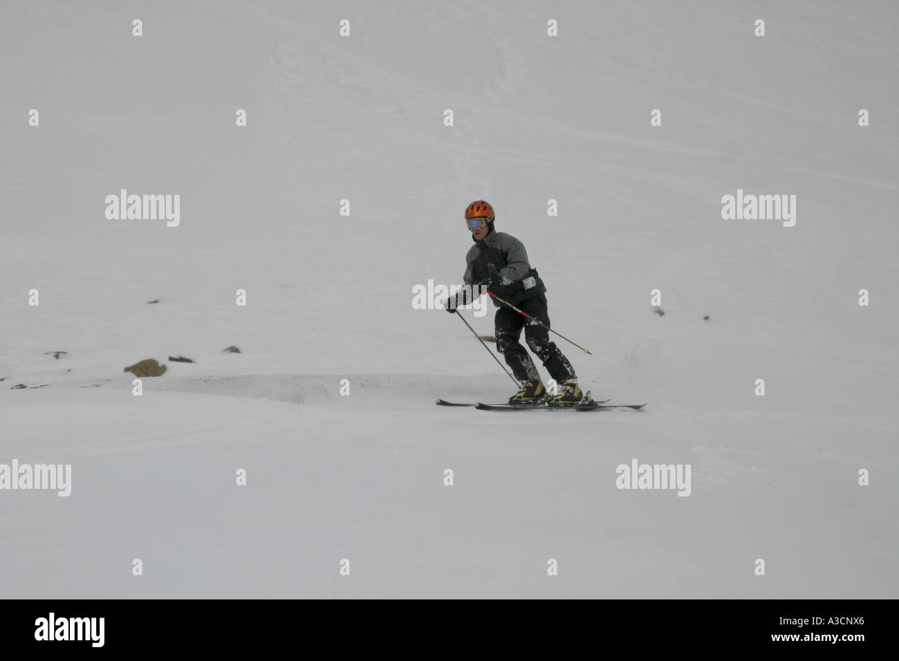 Skiing in the Canadian Rockies - Stock Image