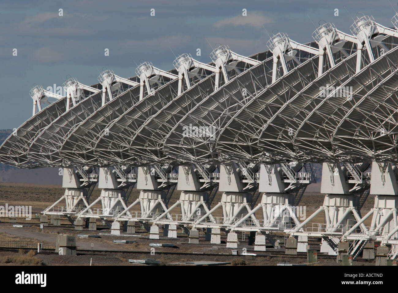 National Radio Astronomy Observatory Very large array New Mexico - Stock Image