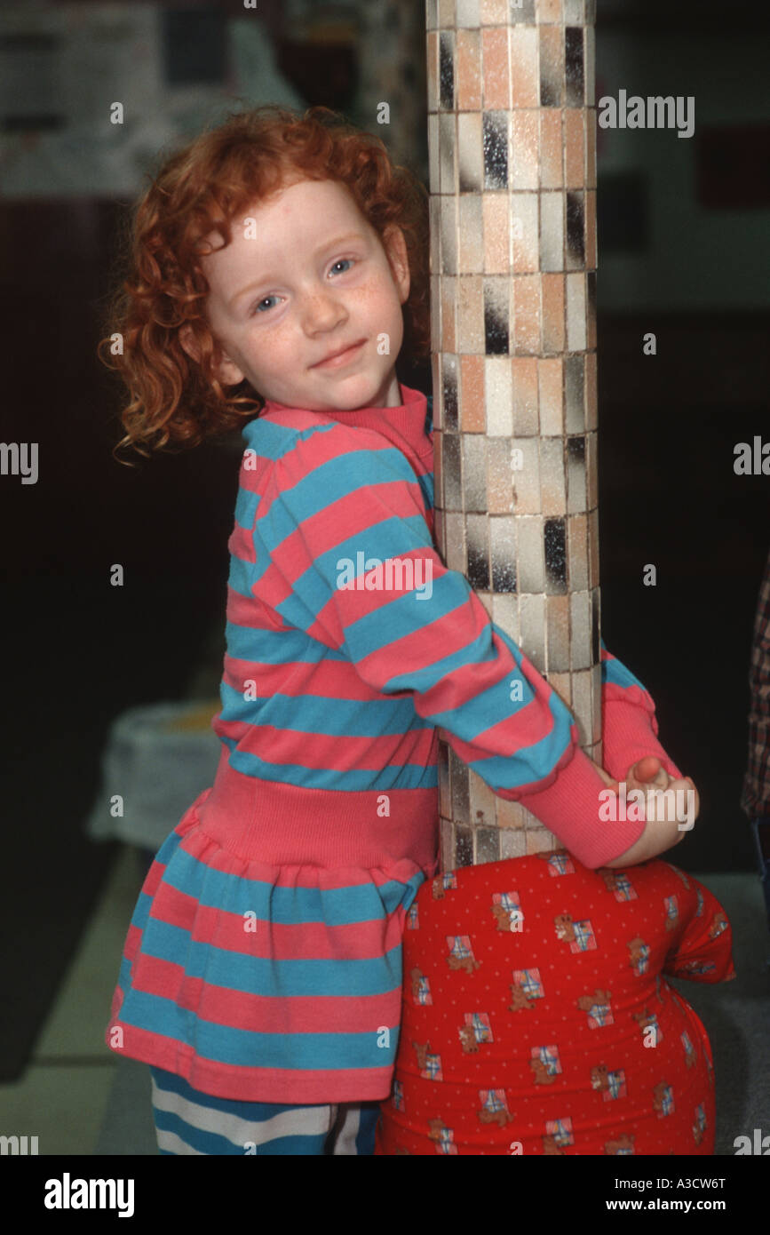 Portrait of a red haired girl in Brooklyn NY - Stock Image