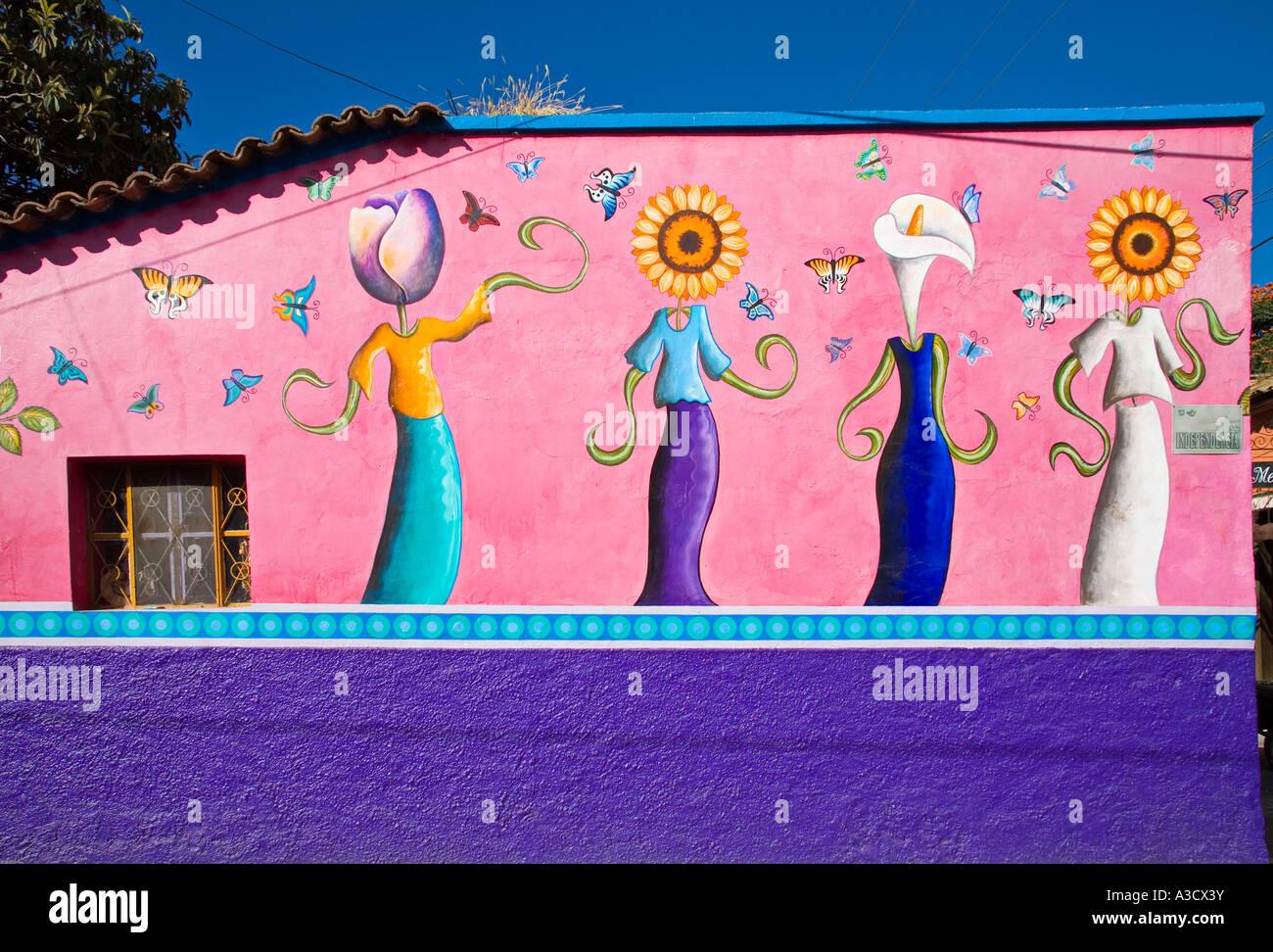 Dress Shop Mural - Stock Image