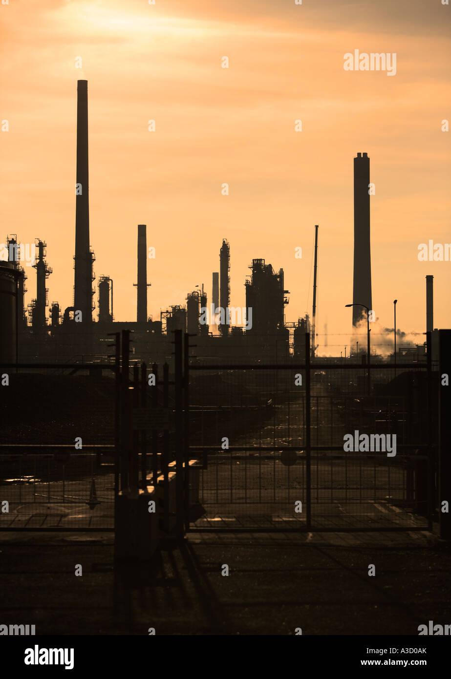 Oil refinery, England, UK - Stock Image