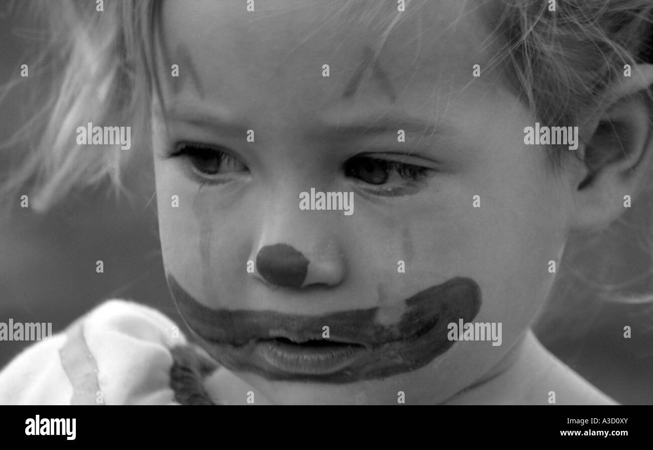 Young Girl Crying Black And White Stock Photos  Images -5339
