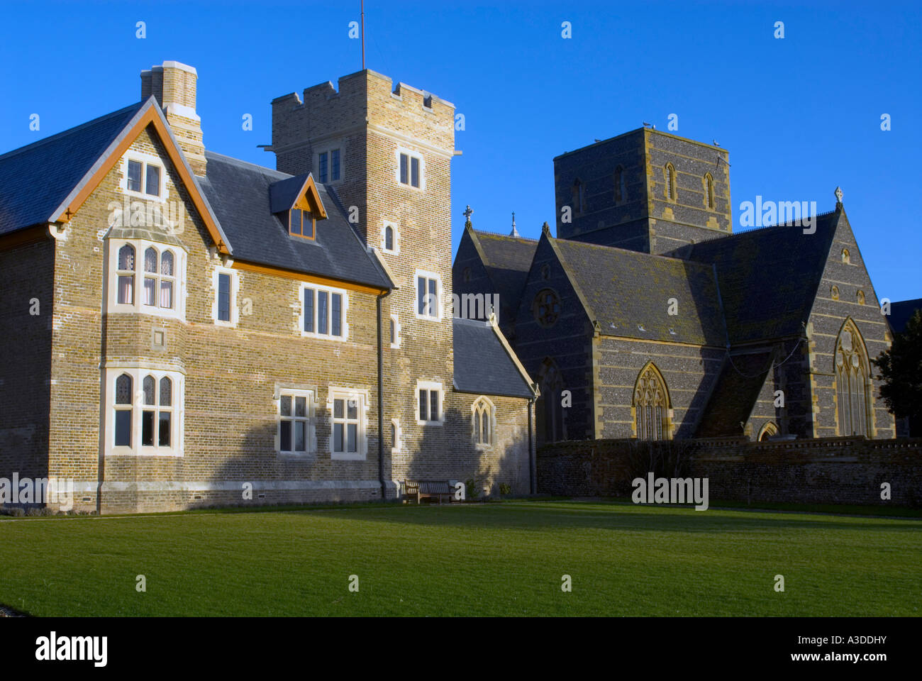The Grange and St Augustine's Priory, Ramsgate. Home of the famous Victorian architect  Augustus Welby Pugin - Stock Image