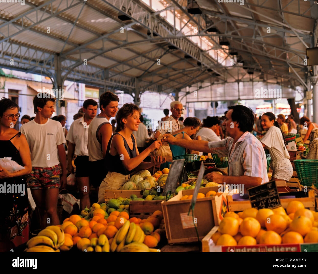 Market in the Old Town Antibe South of France French Riviera France Stock Photo