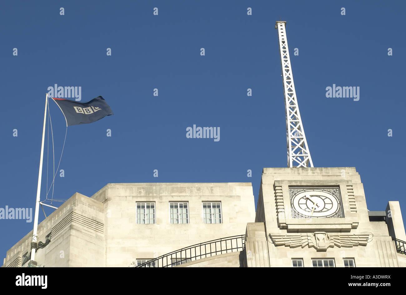 Broadcasting House BBC Corporate Headquarters London - Stock Image