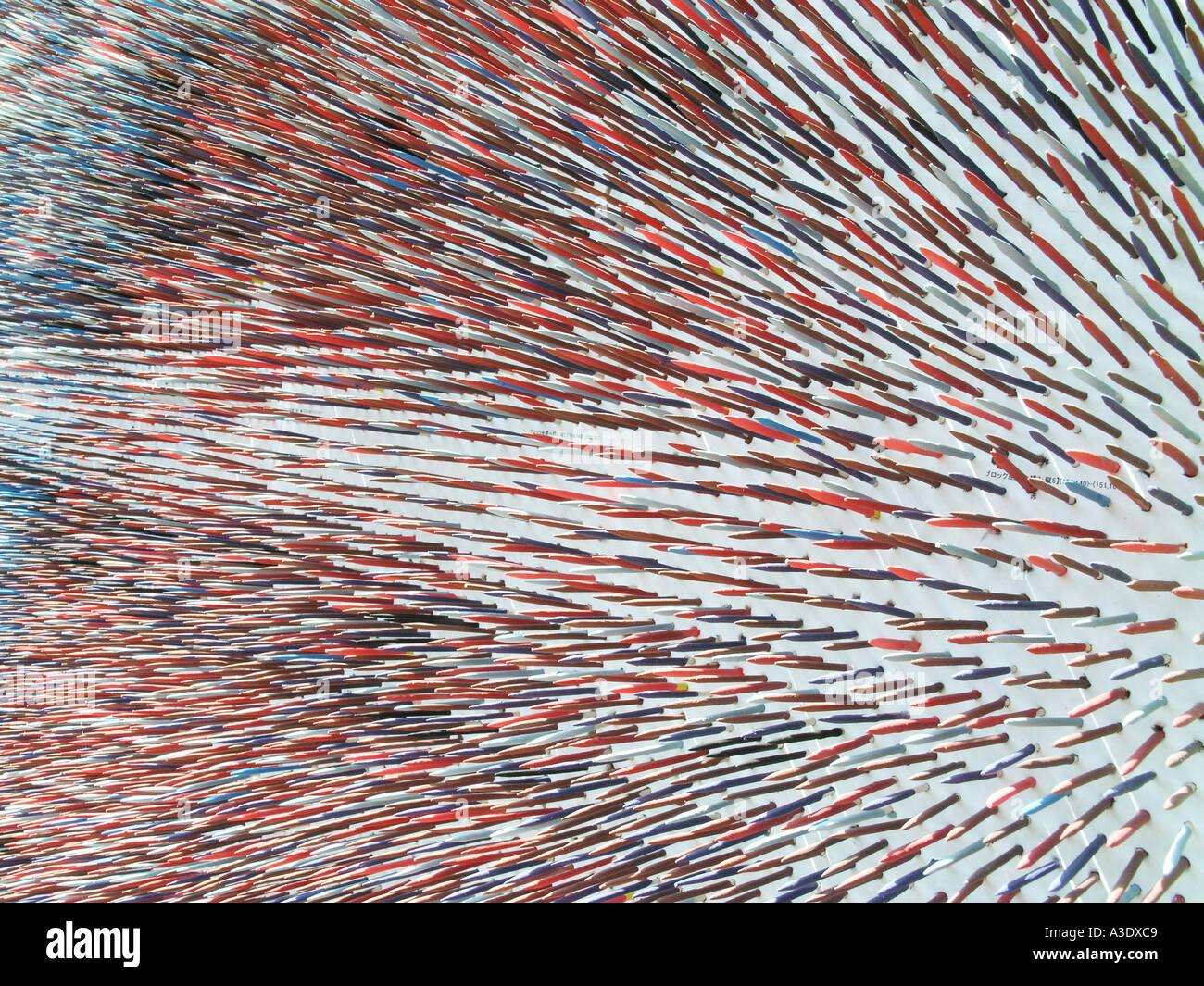 3 dimensional artwork display - Stock Image
