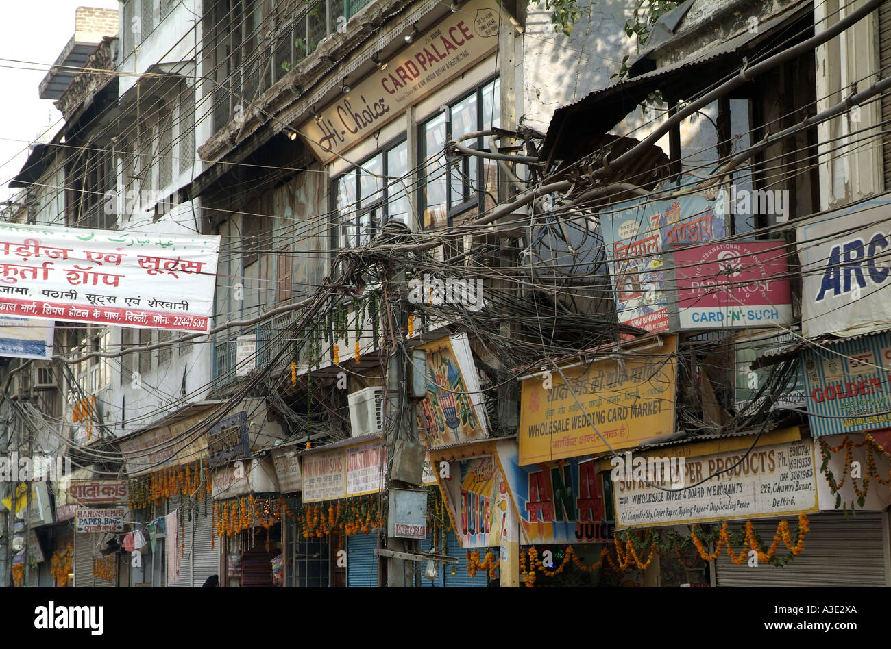 Enjoyable Electrical Wire Chaos In Delhi India Stock Photo 6147113 Alamy Wiring 101 Ferenstreekradiomeanderfmnl