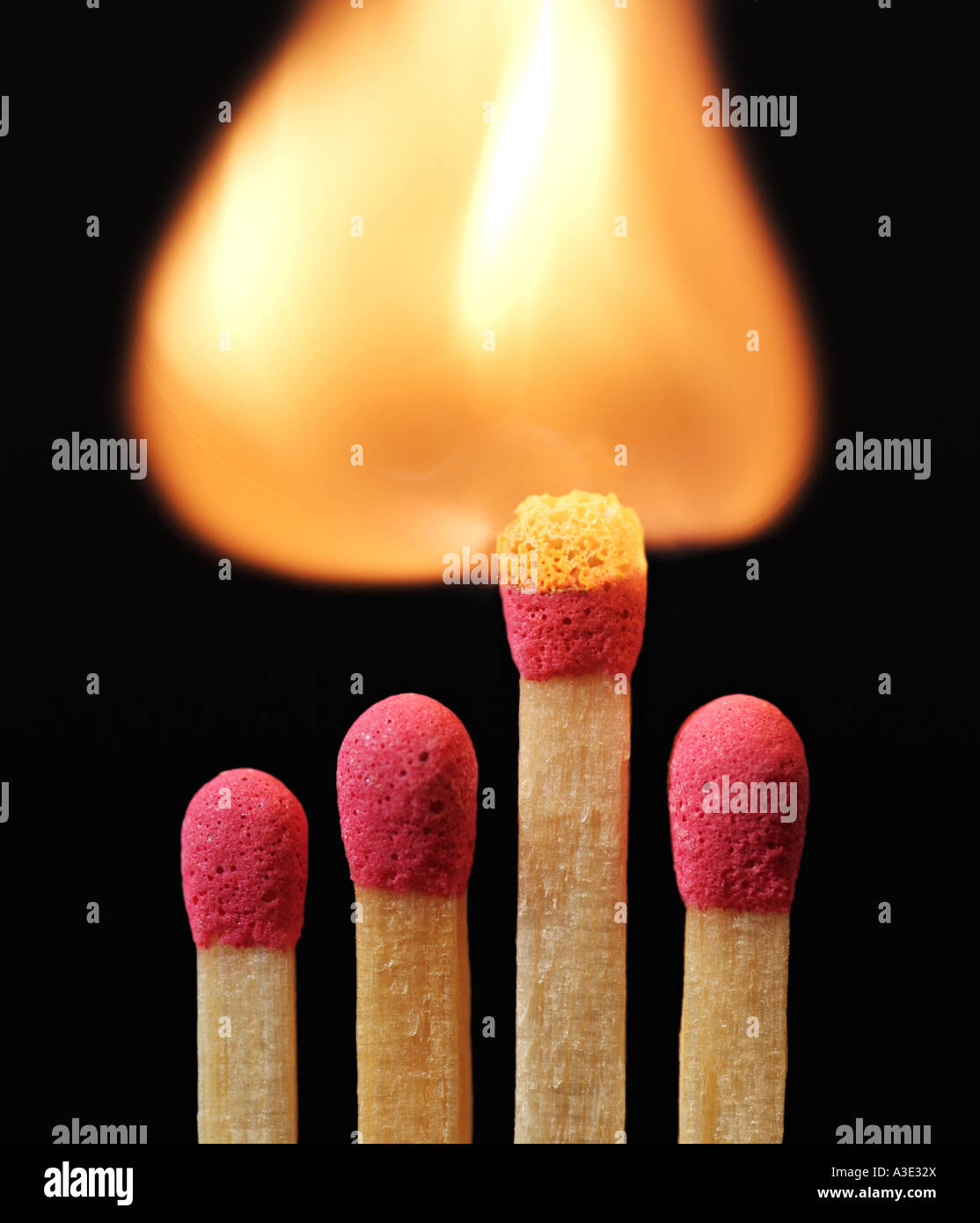 Lit Match - Stock Image