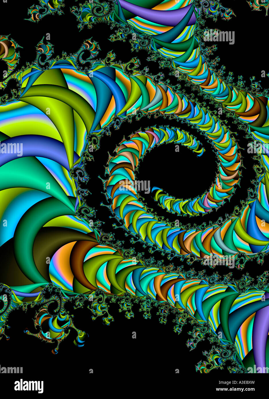 Abstract spirals Stock Photo