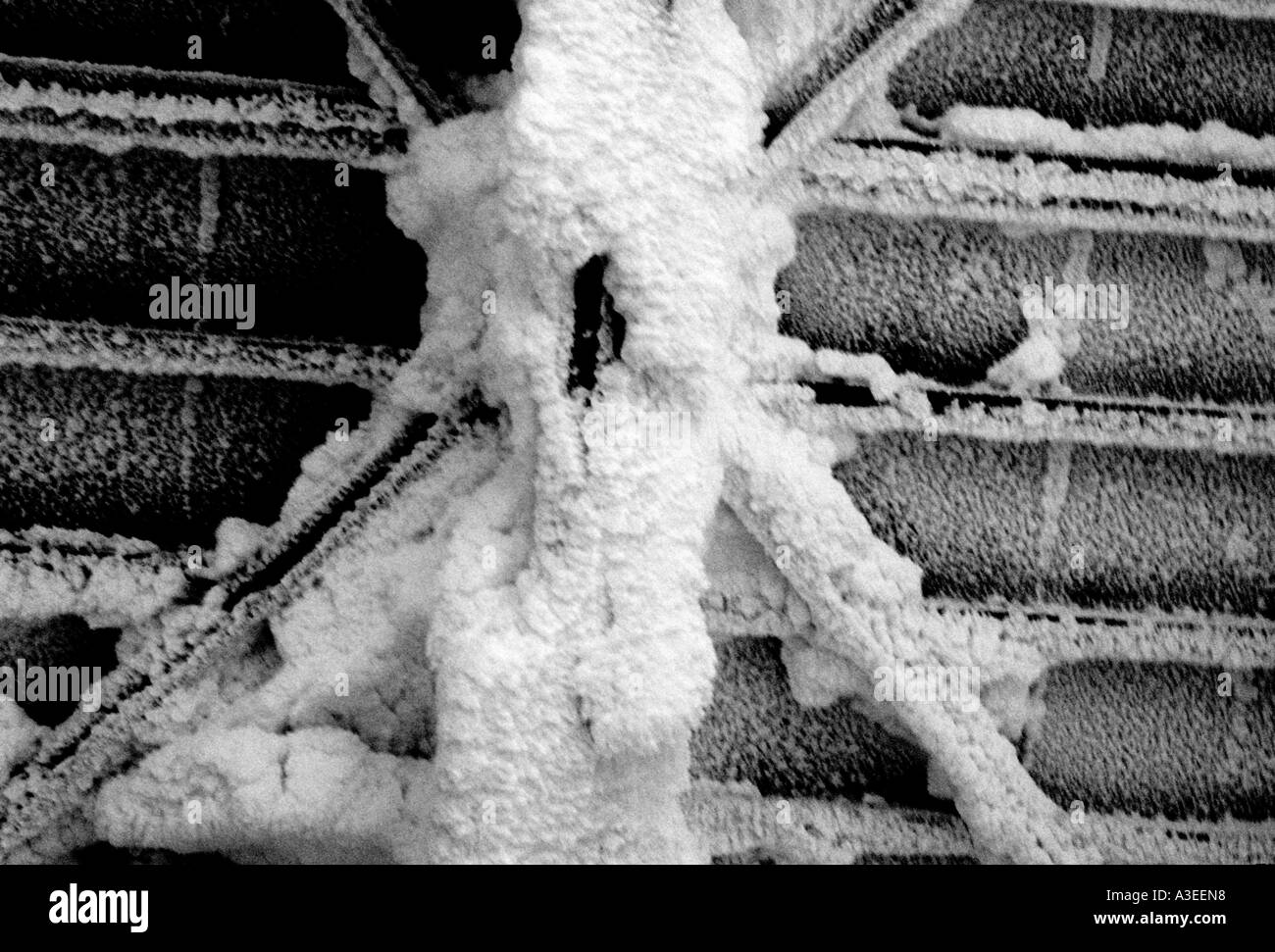 Frozen Garage Door In Aomori Japan Stock Photo 6149335 Alamy