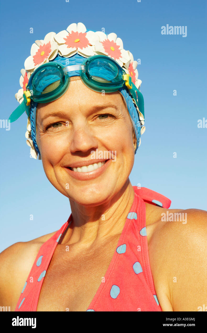 Portrait of a mature woman smiling - Stock Image