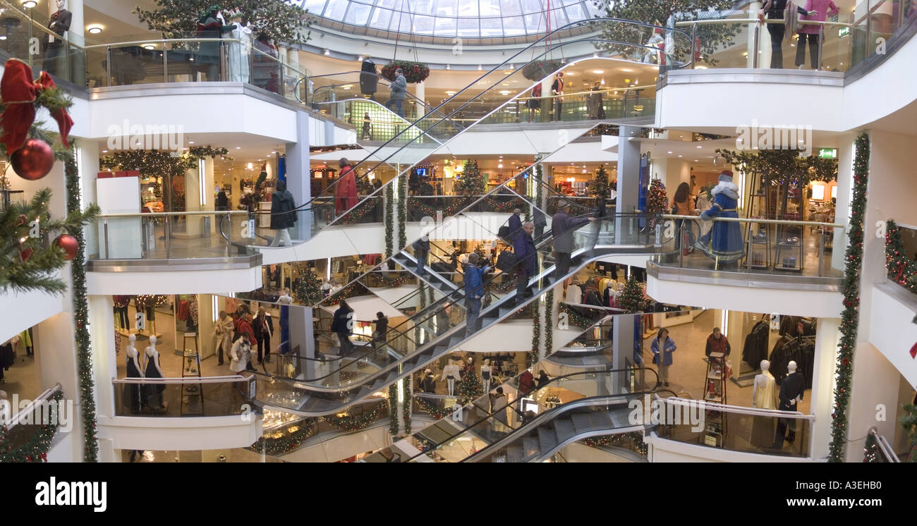 munich shopping mall arcade department stock photo 3512751 alamy. Black Bedroom Furniture Sets. Home Design Ideas