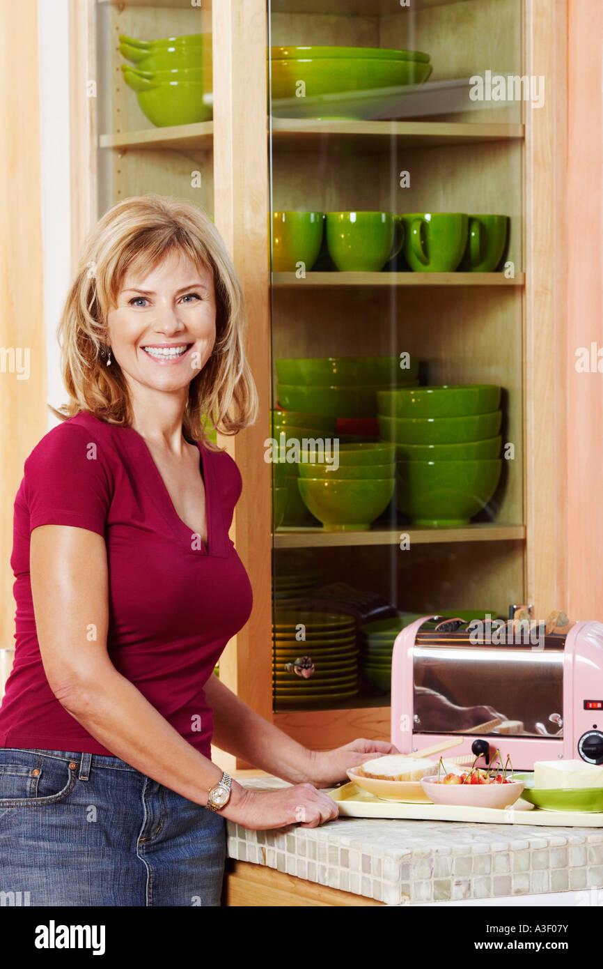 Mature women kitchen