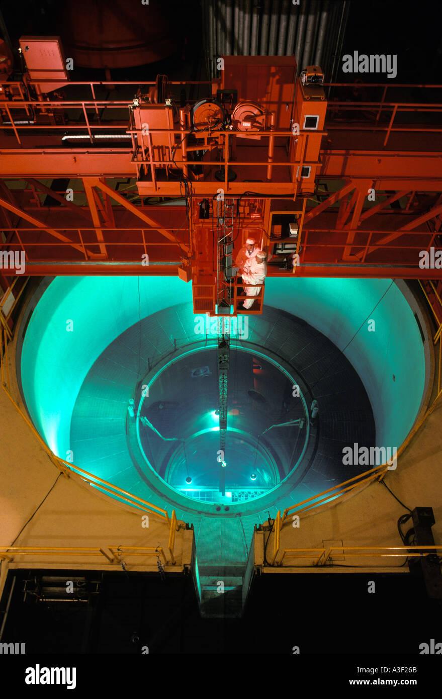 Boiling Water Reactor Stock Photos Power Plant Diagram Technicians Working Above Bwr San Jose California Image