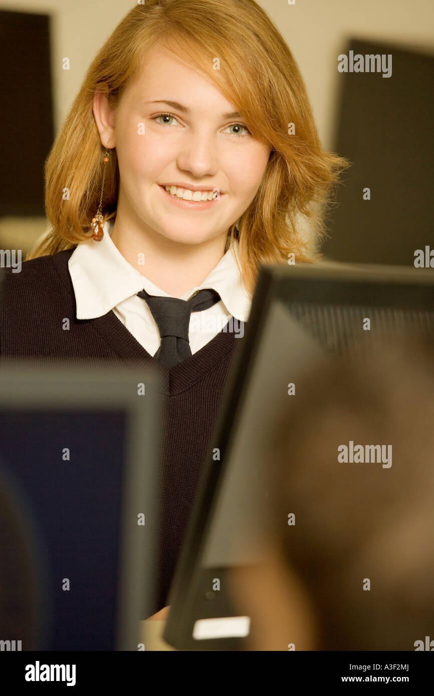 Private school student - Stock Image