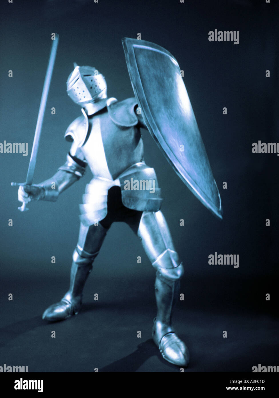Knight in shining Armor - Stock Image