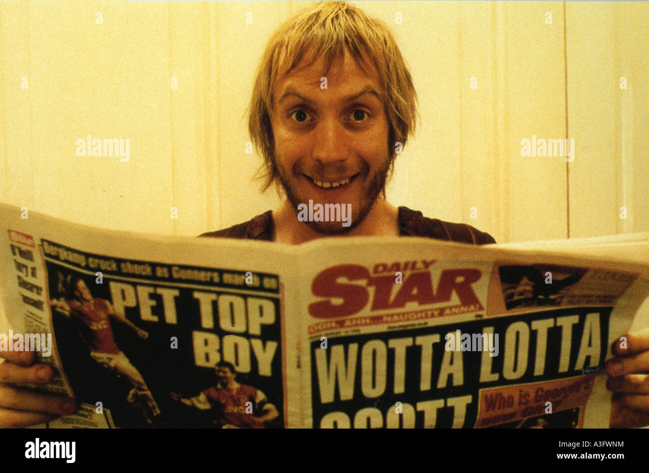 NOTTING HILL  1999 Polygram/Working Title film with Rhys Ifans - Stock Image