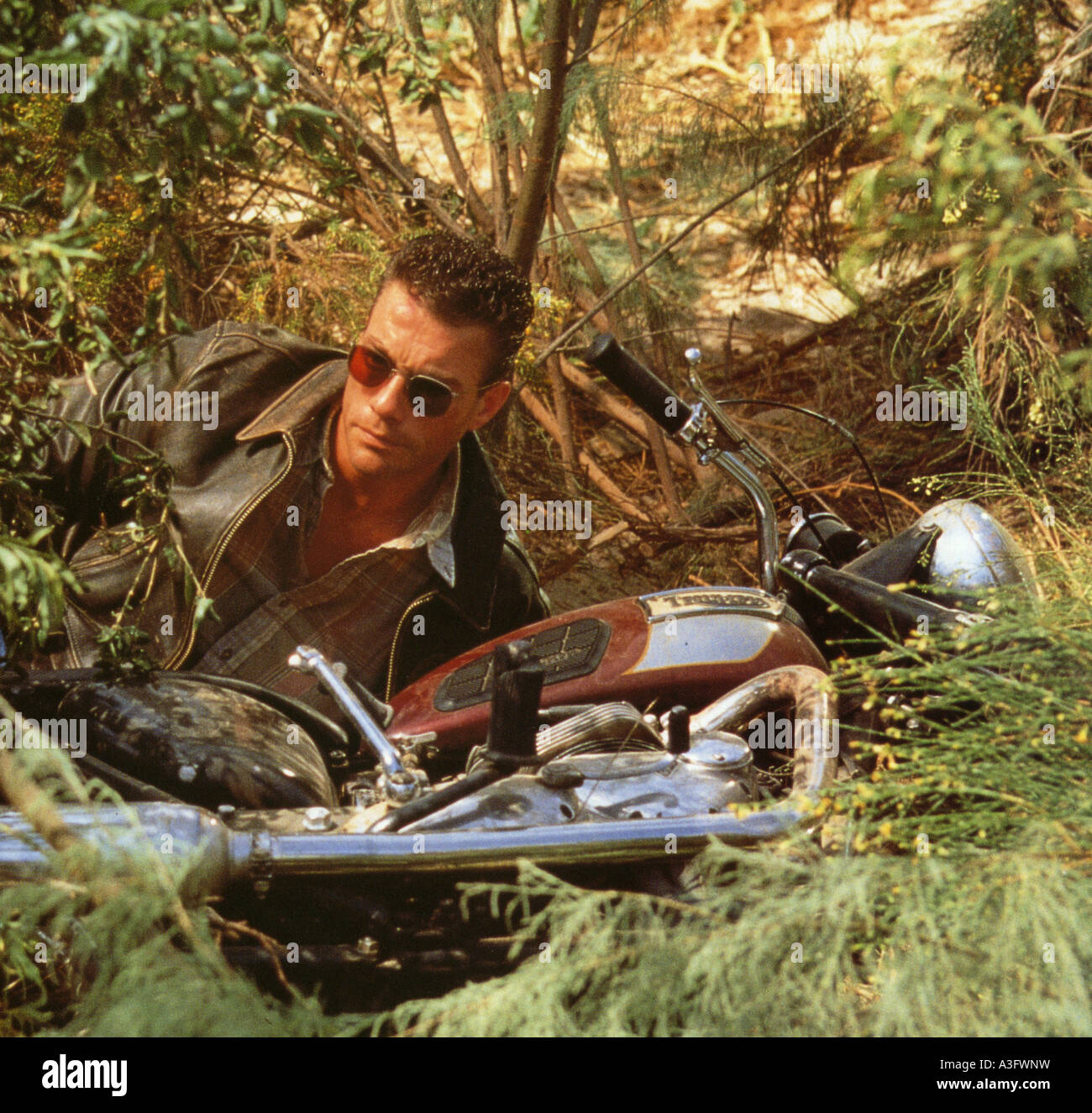 NOWHERE TO RUN 1993 Columbia film with Jean Claude Van Damme - Stock Image