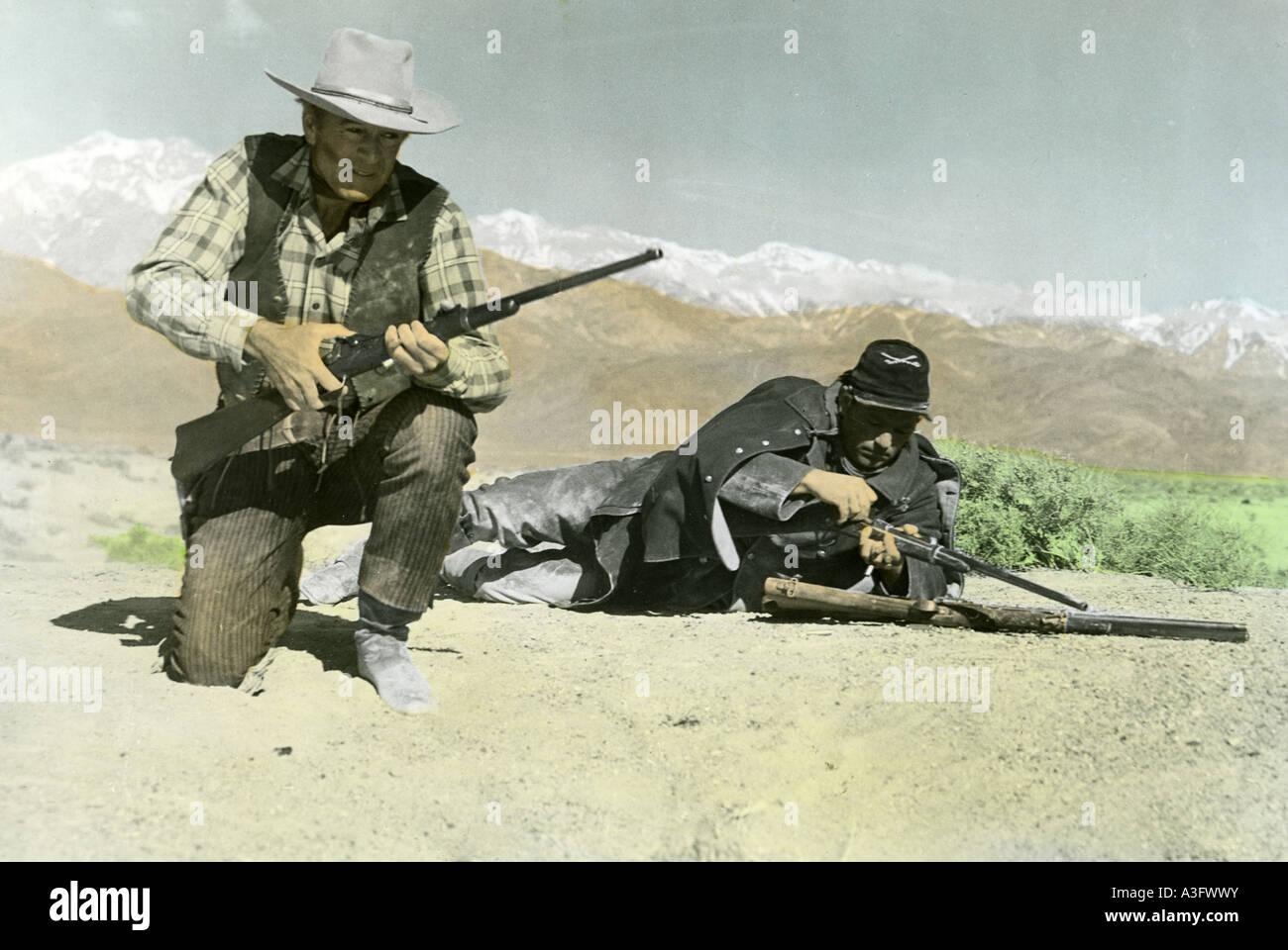 SPRINGFIELD RIFLE 1952 Warner film with Gary Cooper - Stock Image