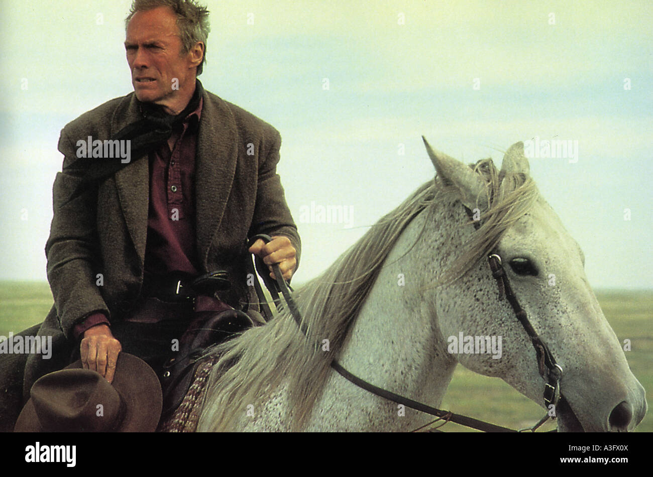 UNFORGIVEN  1992 Warner film with Clint Eastwood as William Munny - Stock Image