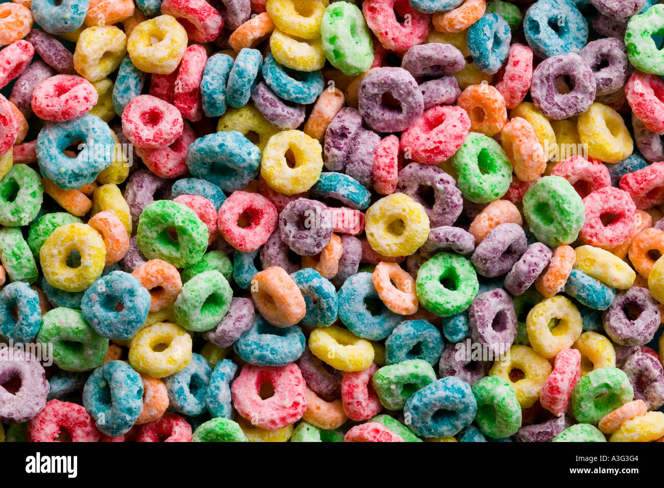 Colorfull Breakfast Cerial Stock Photo