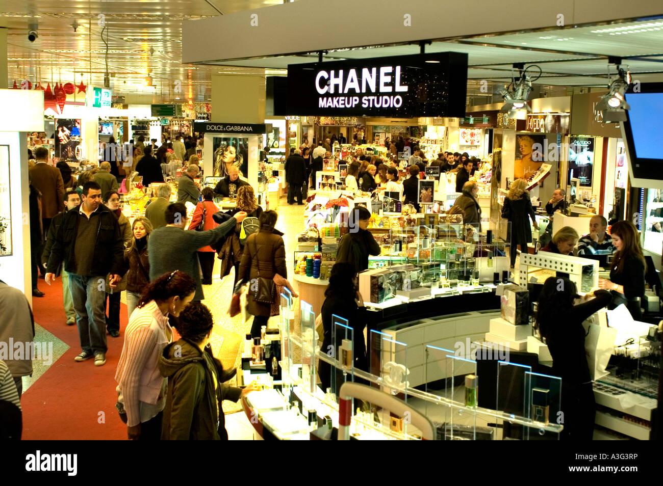 Coco Chanel Passeig De Gracia Barcelona Fashion Luxury Perfume Stock