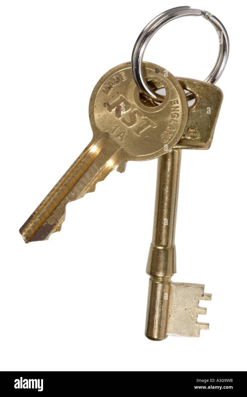 Bon Front Door Keys On A Keyring   Stock Image