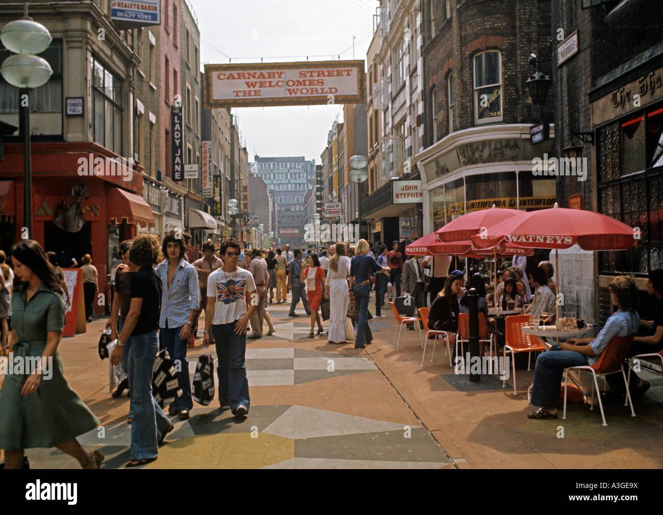 Carnaby Street 1960s - Stock Image