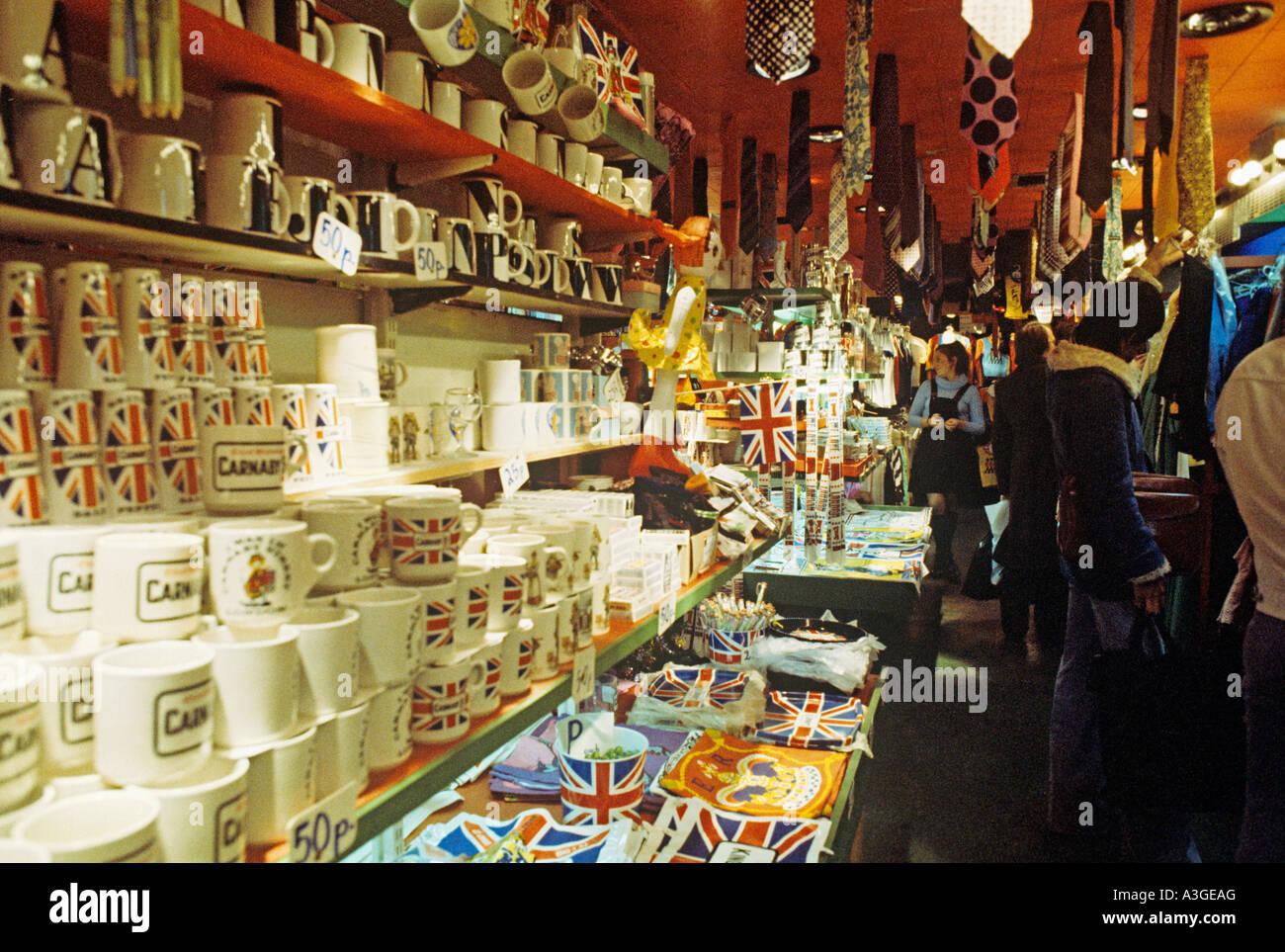 Carnaby Street shop interior 1960s - Stock Image