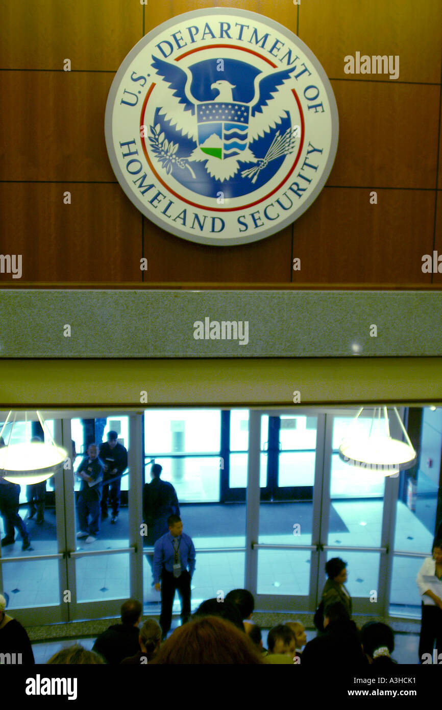 US Department of Homeland Security office - Stock Image