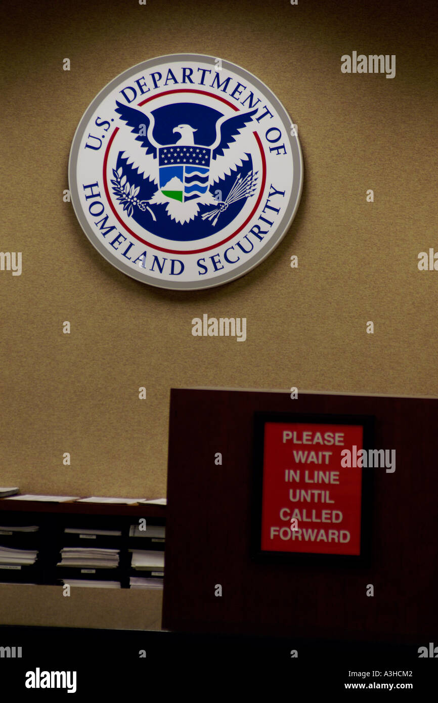 US Department of Homeland Security office Stock Photo