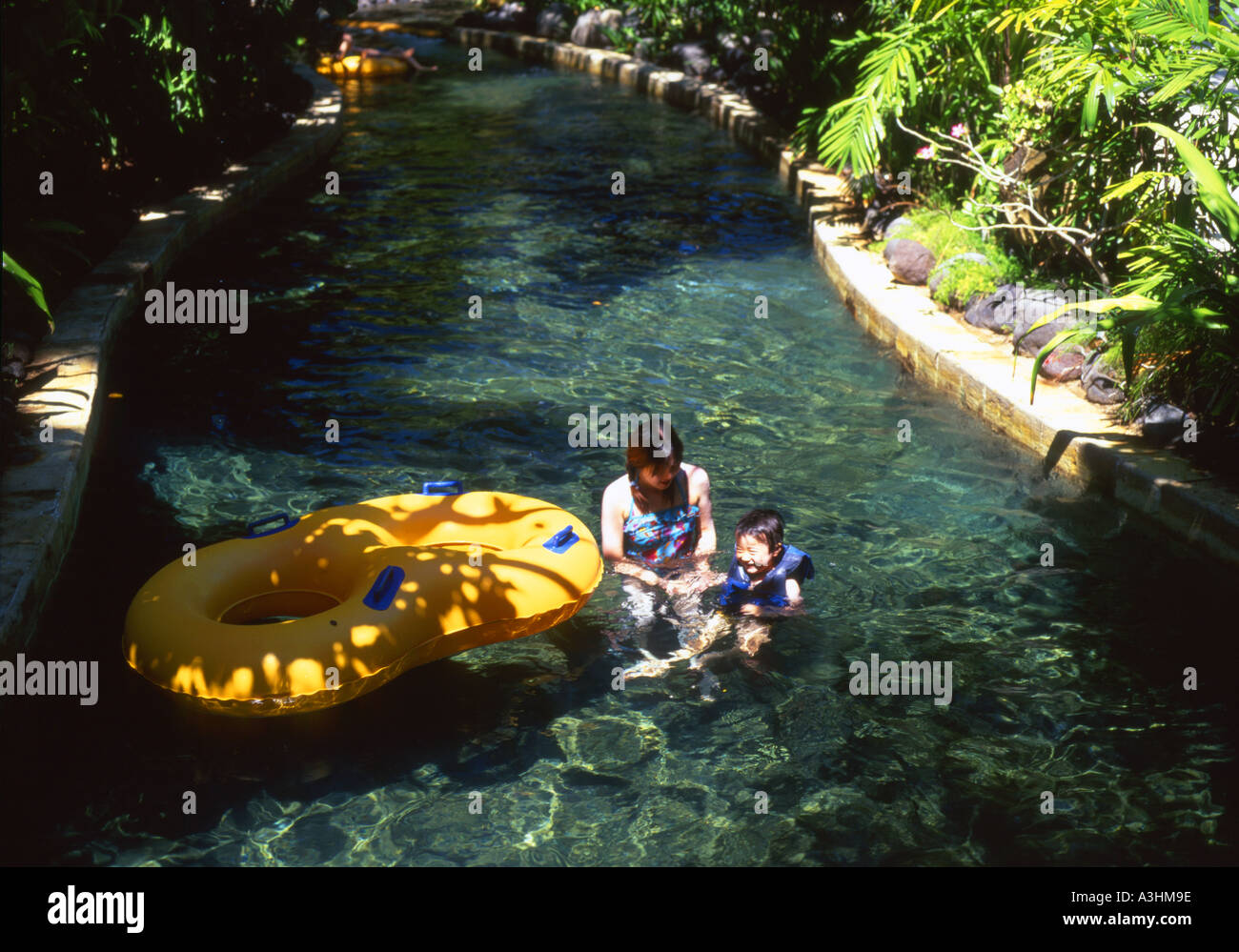 Water Feature At The Popular Tourist Spot Waterbom Park Kuta