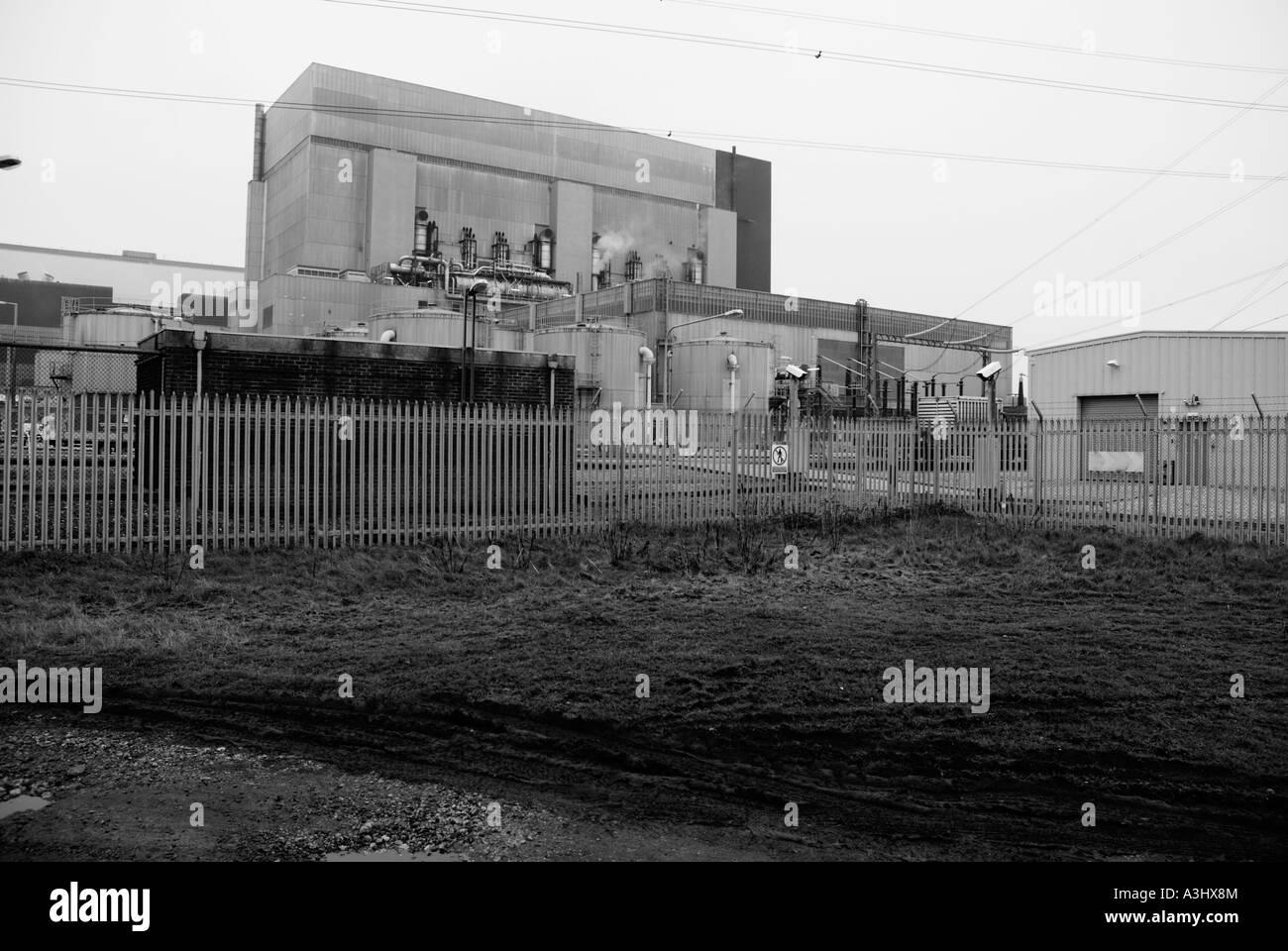 Nuclear power station at Heysham, Lancashire - Stock Image