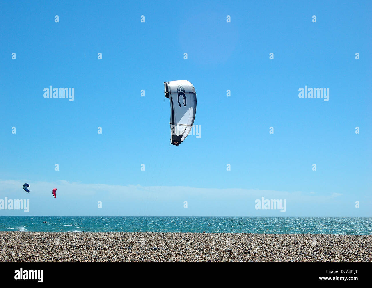 'Kite surfers' - Stock Image