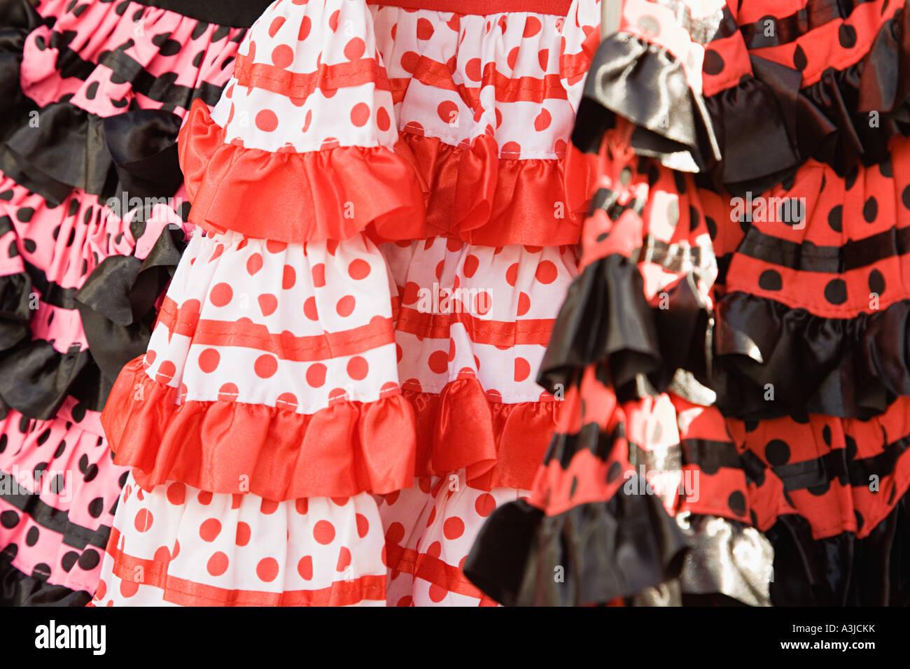 Flamenco dresses - Stock Image