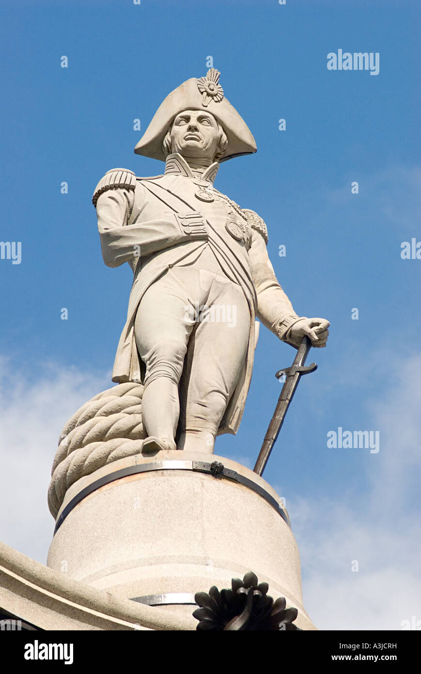 Statue of admiral nelson - Stock Image
