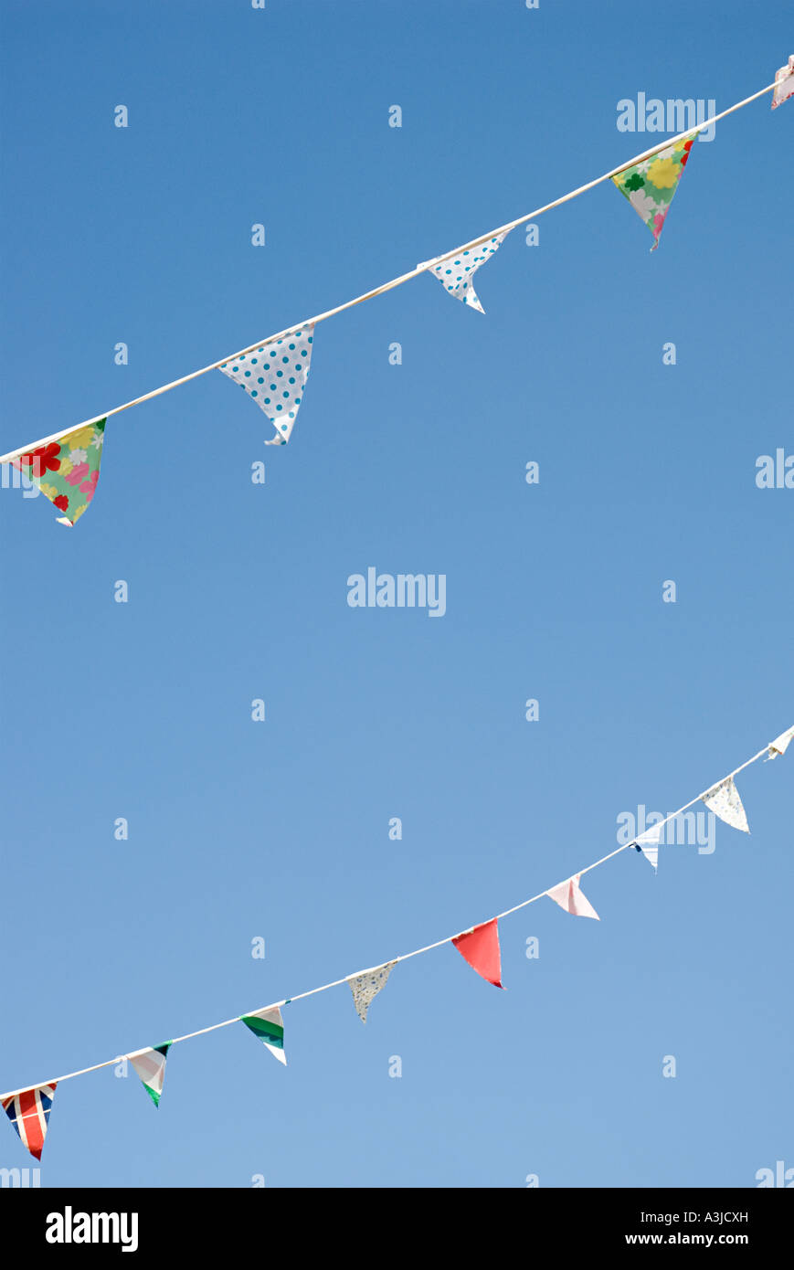 Rows of bunting - Stock Image