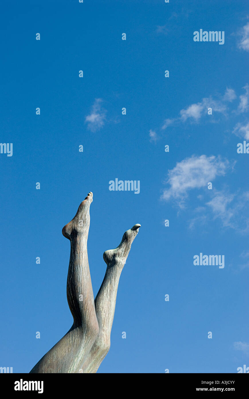 Legs of a statue - Stock Image