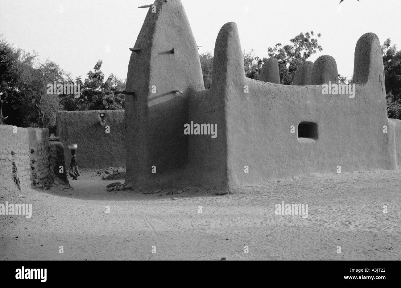 mud covered mosque Mali West Africa Stock Photo