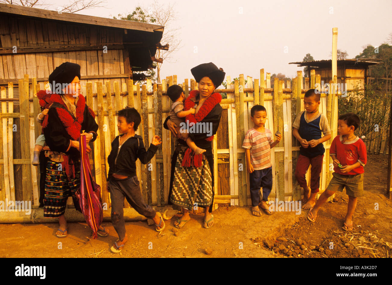 Mien Villagers Northern Thailand Women In Traditional Costume And Stock Photo Alamy