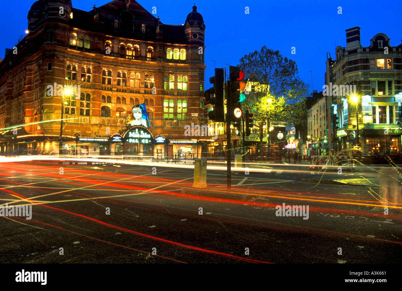 Shaftesbury Avenue West End London Capital City England United Kingdom Europe - Stock Image