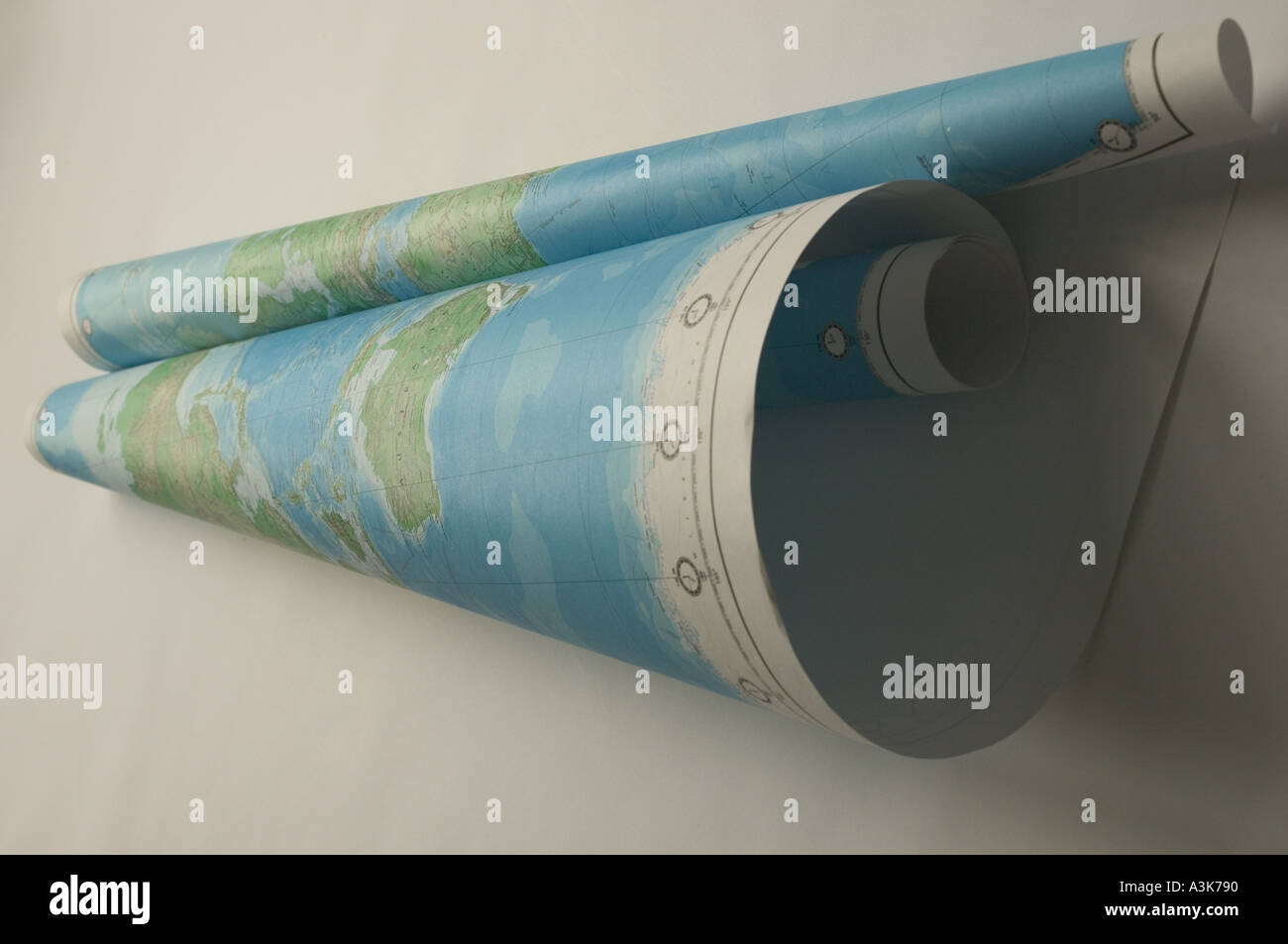 World map rolled up into scroll Stock Photo 1996687 Alamy